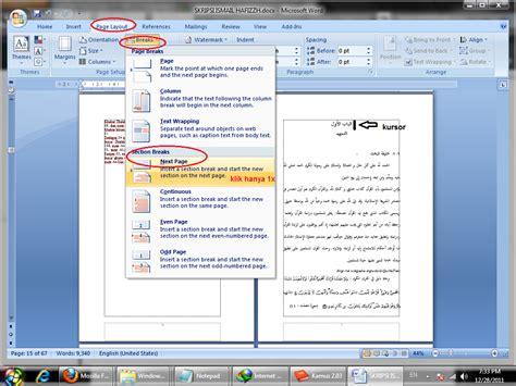 buat halaman di word 2013 artikel makalah kliping cerpen puisi dsb tips dan