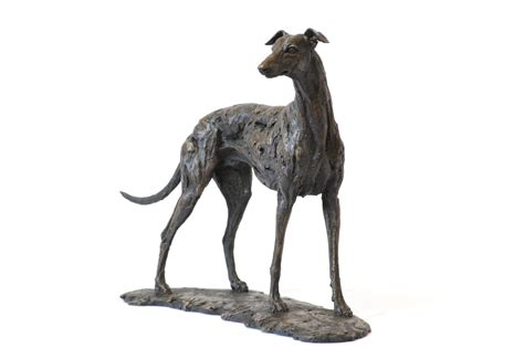 bronze greyhound sculpture  animal sculptor tanya