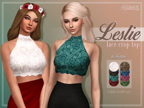 my sims 3 blog lace my sims 4 blog leslie lace crop top by trillyke