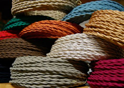fabric l cord covers 25 cotton cloth covered twisted electrical wire vintage