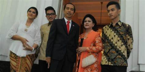 biodata jokowi dan keluarganya ini contoh kesederhanaan keluarga presiden jokowi