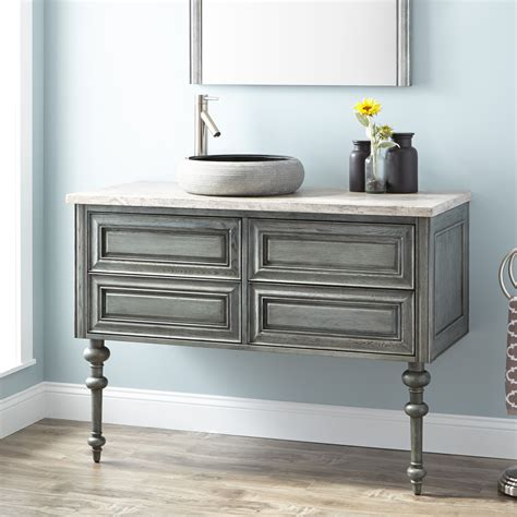 Mounted Vanity by Zhi Wall Mount Console Vanity For Vessel Sink Bathroom