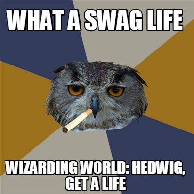 What A Meme - meme creator what a swag life wizarding world hedwig
