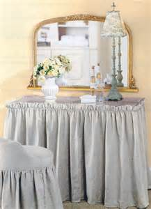vanity with gathered skirt for the home
