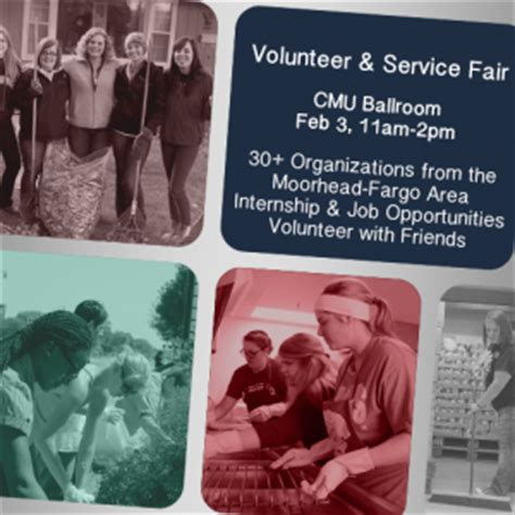 check out the organizations at the volunteer service