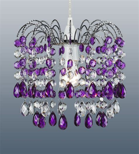 pair of purple 32 acrylic droplet ceiling light
