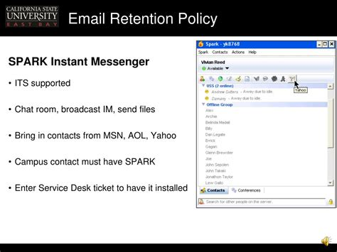 Yahoo Email Retention Policy | ppt email retention policy presentation handouts