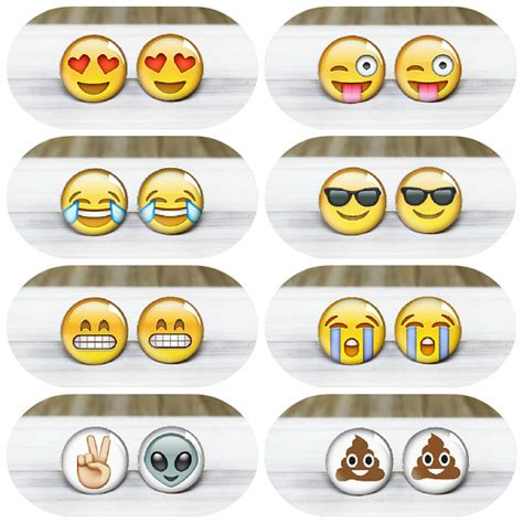 emoji earrings emoji stud earrings hypoallergenic earrings for sensitive