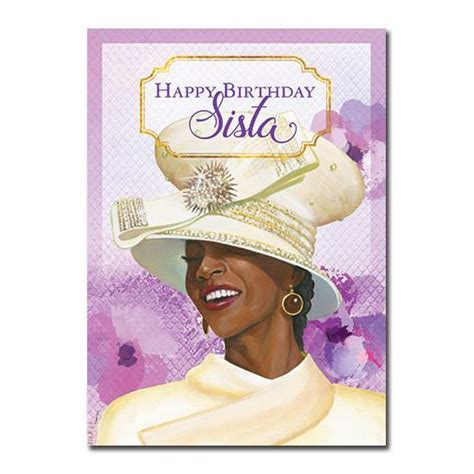 Afro American Birthday Cards Happy Birthday Sista African American Birthday Card 7x5