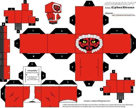 cubee santa darth maul by cyberdrone paper toys star