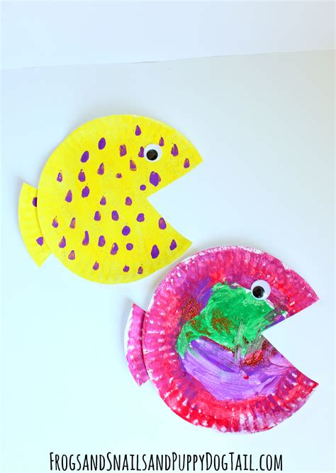 fishing crafts for fish paper plate craft fspdt