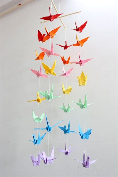 Colorful Origami - 1000 ideas about paper crane mobile on crane