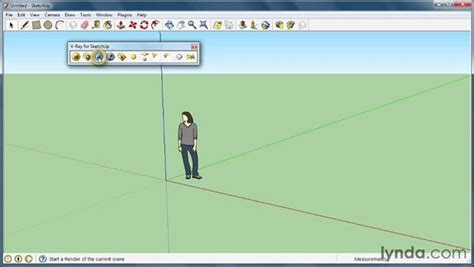 sketchup layout toolbar locating v ray tools and features