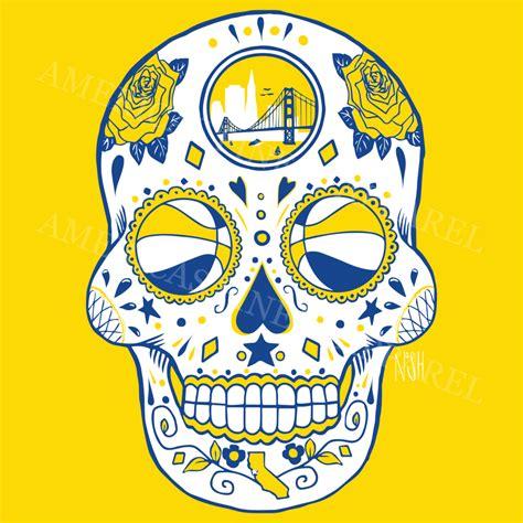 golden state warriors l golden state basketball sugar skull america s finest apparel