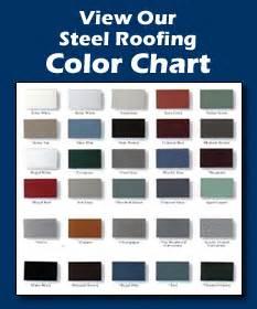 metal roof color chart standing seam steel roofing golke bros steel roofing llc