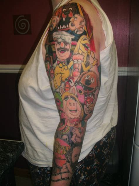 random sleeve tattoo muppet sleeve by jinx by jinxiejinx13 on deviantart
