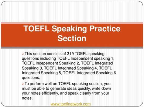 toefl speaking section practice online online toefl ibt preparation course