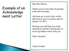 Acknowledgement Letter Received Items Order Acknowledgement And Delay In Order Letter