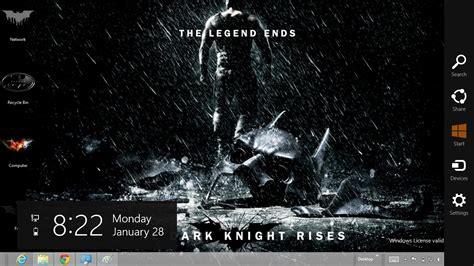 psp themes batman dark knight batman the dark knight rises theme for windows 7 and 8