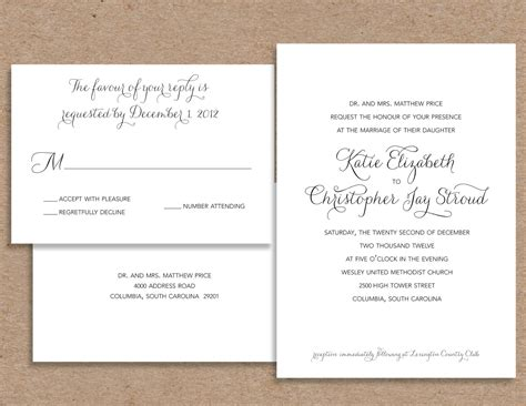 wedding invitation replies replying to a wedding invite various invitation card design