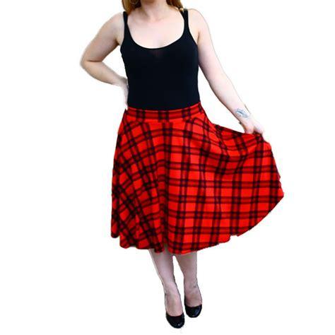 plus size swing skirt ladies tartan a line swing skirt plus sizes too ebay