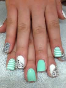 mint color nails mint green nails with stripes expensive nails
