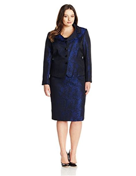 tahari asl s plus size tracy skirt suit howthelook