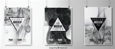Artwork Proof Template by Free Poster Mockup Template Wooosh