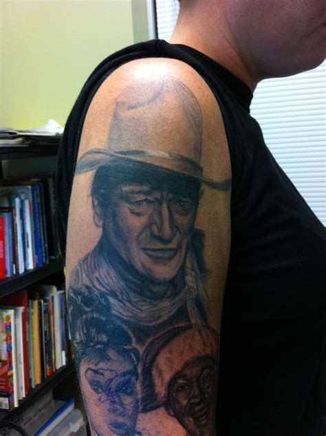 john wayne tattoos wayne portrait my black and grey tattoos