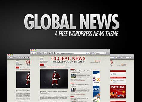 newspaper theme word 2010 global news a free wordpress news theme updated