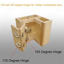 Hinges For Kitchen Cabinets Doors 165 135corner Folden Kitchen Cabinet Flush Door Hinges Combination Nickel Ebay