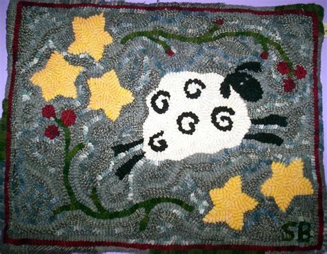 counting sheep rug hooking mountain wool rug hooking kits by beth black