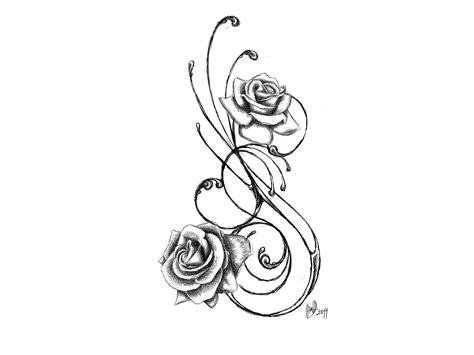 fresh tribal rose tattoo stencil fresh tribal stencil