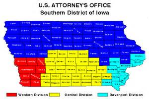 southern district of iowa map usao ndia department of