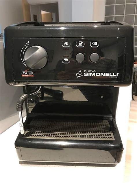 oscar espresso machine nuova simonelli oscar espresso machine black in