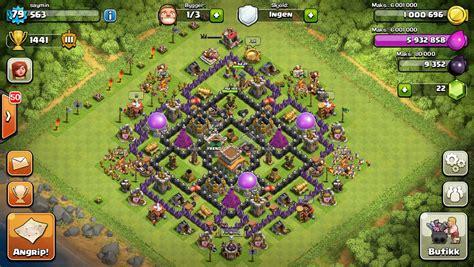 clash of clans ayuntamiento de aldea 8 aldea ayuntamiento 8 para subir trofeos clan winterfield