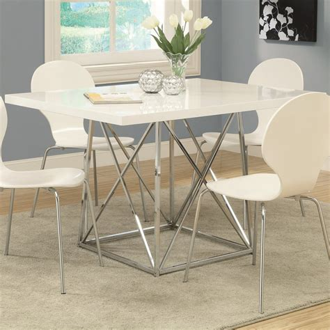 Monarch Dining Table Shop Monarch Specialties White Rectangular Dining Table At Lowes