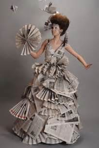Recycled newspaper innovative lady dresses recycled things