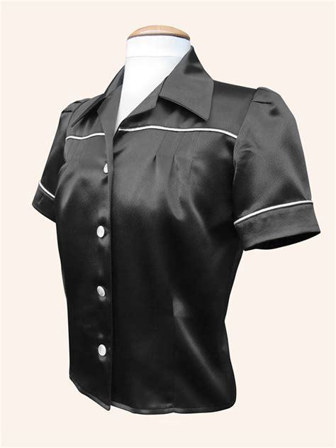 Jojo Blouse jojo blouse black crepe satin from vivien of holloway