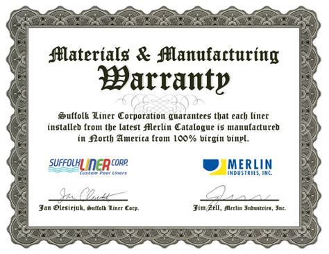 design for manufacturing certification certificate warranty sle gallery certificate design