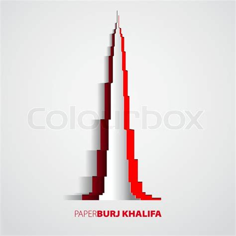 How To Make Burj Khalifa Out Of Paper - burj khalifa tower from paper dubai card vector