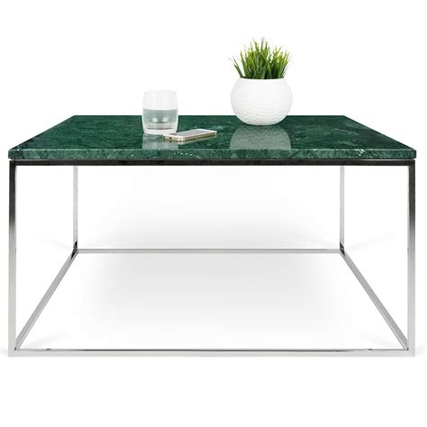 Green Marble Coffee Table Gleam Green Marble Chrome Coffee Table By Temahome Eurway