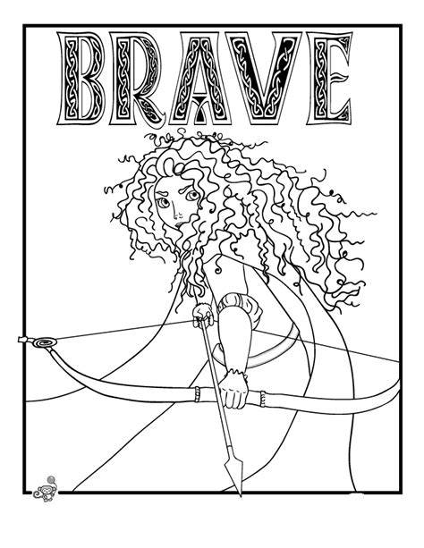 Disney Brave Coloring Pages beautiful brave character disney pixar pictures