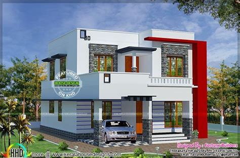 modern home design with a low budget 1690 sq ft low budget modern home kerala home design