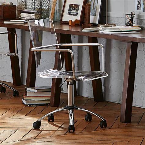 acrylic swivel desk chair paige acrylic swivel chair pbteen