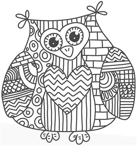 Free Coloring Pages Of Owl Pictures Coloring Pages Of Owls For Adults