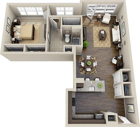 l shaped apartment 50 plans en 3d d appartement avec 1 chambres