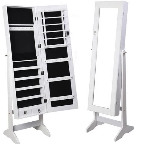 free standing jewellery armoire uk free standing jewelry mirror cabinet uk mf cabinets