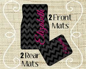 Monogrammed Floor Mats For Car Personalized Car Mats Car Mats Custom Car Mat Monogram Car