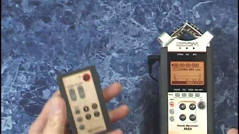 video tutorial zoom h4n zoom h4n tutorial review using a remote youtube